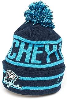 Atributika & Club HC Barys Astana KHL Hockey Cuffed Beanie hat with pom, Dark Blue/Blue