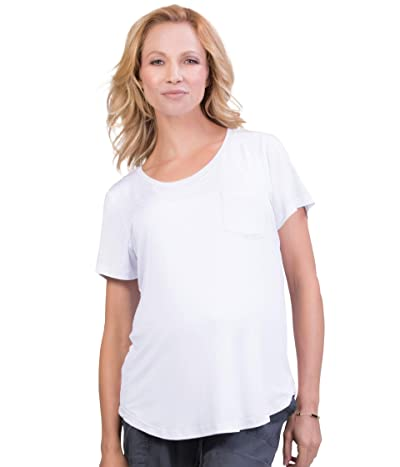 Belly Bandit Viscose from Bamboo Perfect Nursing Tee (White) Women
