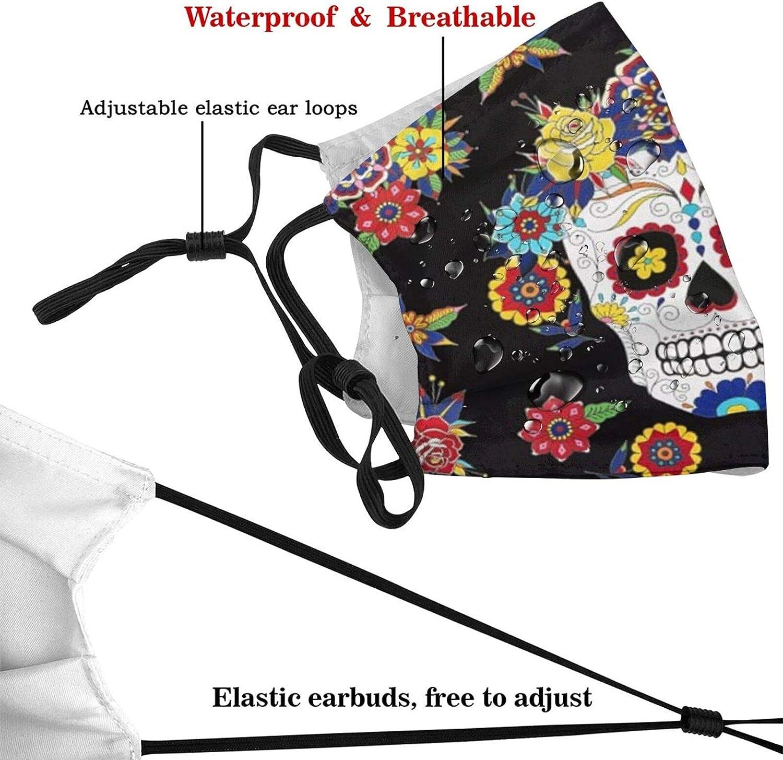 Funny Face Mask,Dia De Los Muertos Face Mask Unisex Balaclava Washable Reusable Fashion Scarf