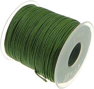 My-Bead 90m Nylonband Kordel 1mm grün wasserfest Nylonschnur Top Qualität Schmuckherstellung basteln DIY Grundpreis 0.13 Cent je Meter