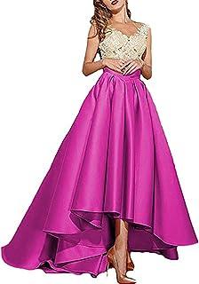 فستان Alanre نسائي شفاف بأكمام قصيرة من الدانتيل المطرز باللون العاجي فستان سهرة طويل منخفض