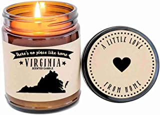 Virginia Scented Candle State Candle Homesick Gift No Place Like Home Thinking of You Holiday Gift