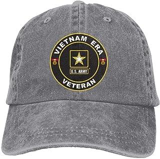 754452c95631b Dkvmkrvla U.S. Army Vietnam Era Veteran Adjustable Baseball Caps Denim Hats  Cowboy Sport Outdoor