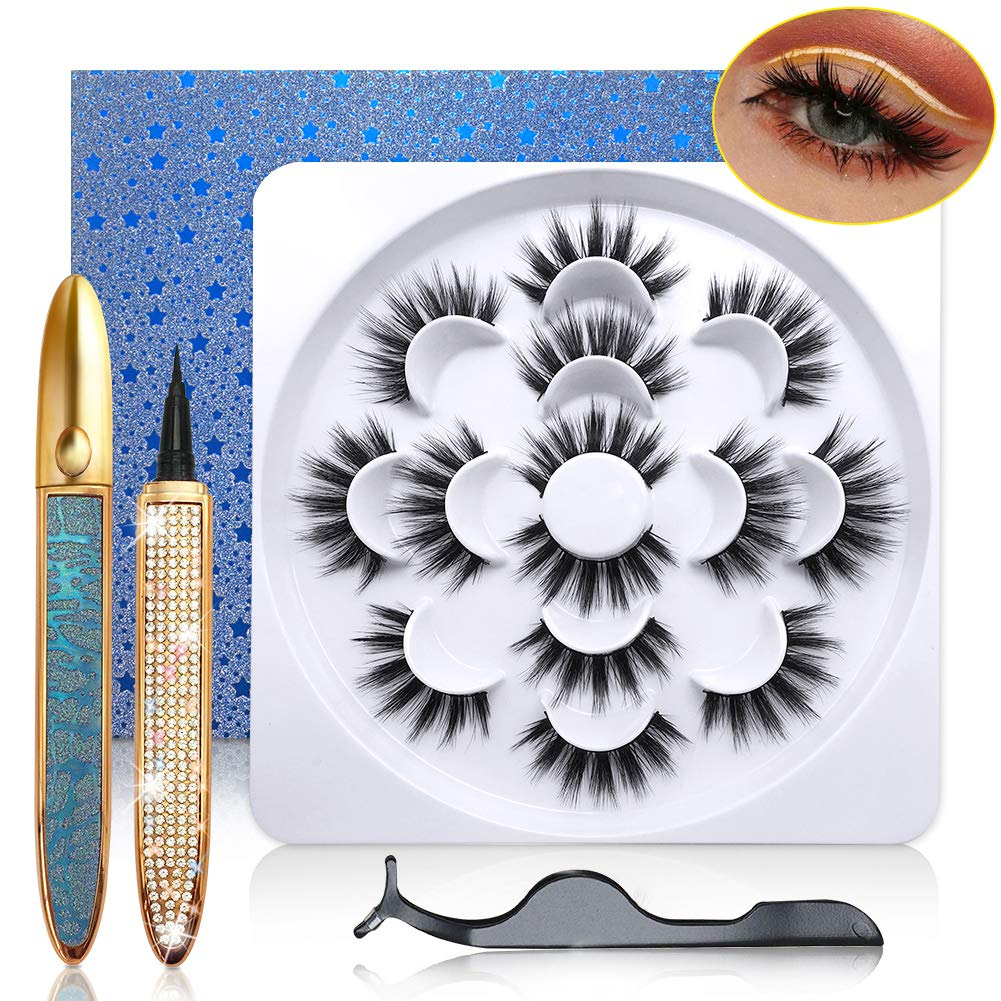 3D Magic Eyelashes and Eyeliner Kit Lashes Large special OFFer price Pairs wit 7 Dramatic