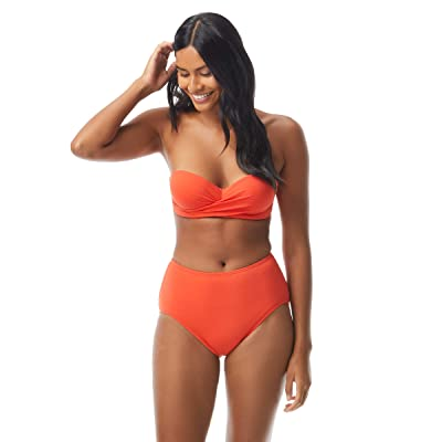 Kate Spade New York Palm Beach Molded Bandeau Top w/ Underwire and Removable Strap (Hot Cherry) Women