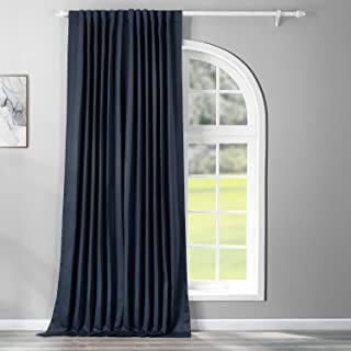 HPD Half Price Drapes BOCH-193810-120-DW Extra Wide Blackout Room Darkening Curtain (1 Panel), 100 X 120, Navy Blue