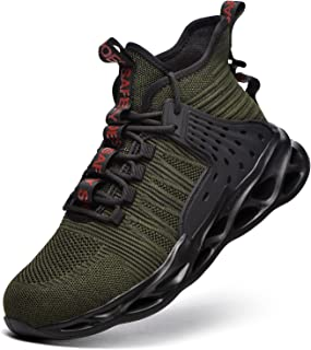 TimGoss Chaussures De Sécurité Homme Femmes Embout Acier Protection Chaussures de Travail Anti-Perforation Confortable Lég...