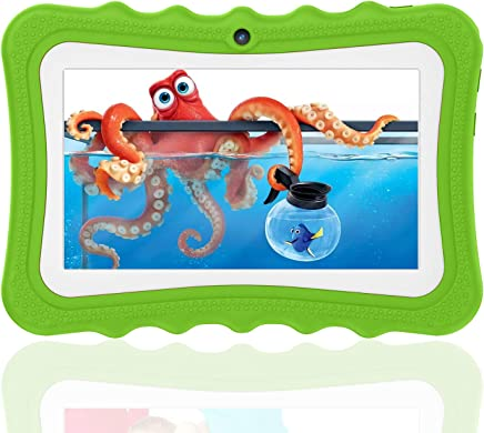 $59 Get Kids Tablets with 7 inch Multi-Touch Screen IPS Display, 2GB RAM 32GB ROM, Unlocked Android 6.0 Quad-core Tablet PC, Dual Camera Wi-Fi Bluetooth Edition Tablet G7(Green)