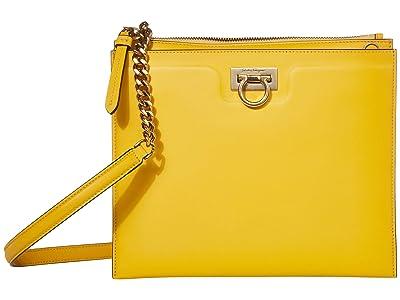 Salvatore Ferragamo Gancio Square Crossbody (Sunshine) Handbags
