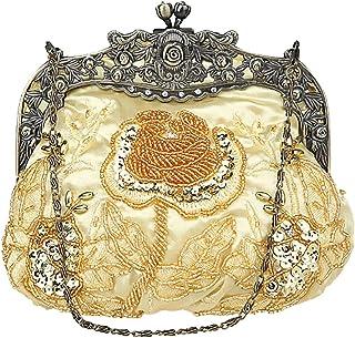 Aileder Abendtasche im Vintage-Stil mit Perlen und Pailletten, für Damen, Hochzeit, Abschlussball, Party, Clutch, Handtasc...
