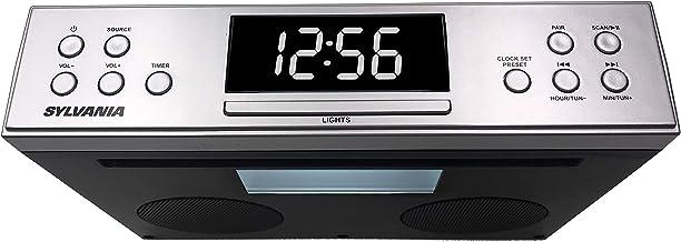 Sylvania SKCR Under Cabinet Clock Radio, Music System with Bluetooth Streaming and FM Radio
