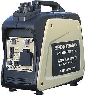 Buffalo Tools Sportsman Inverter Generator – 1000 Starting Watt/800 Running Watts – Gas Powered Portable Camping Outdoors – Tan Color