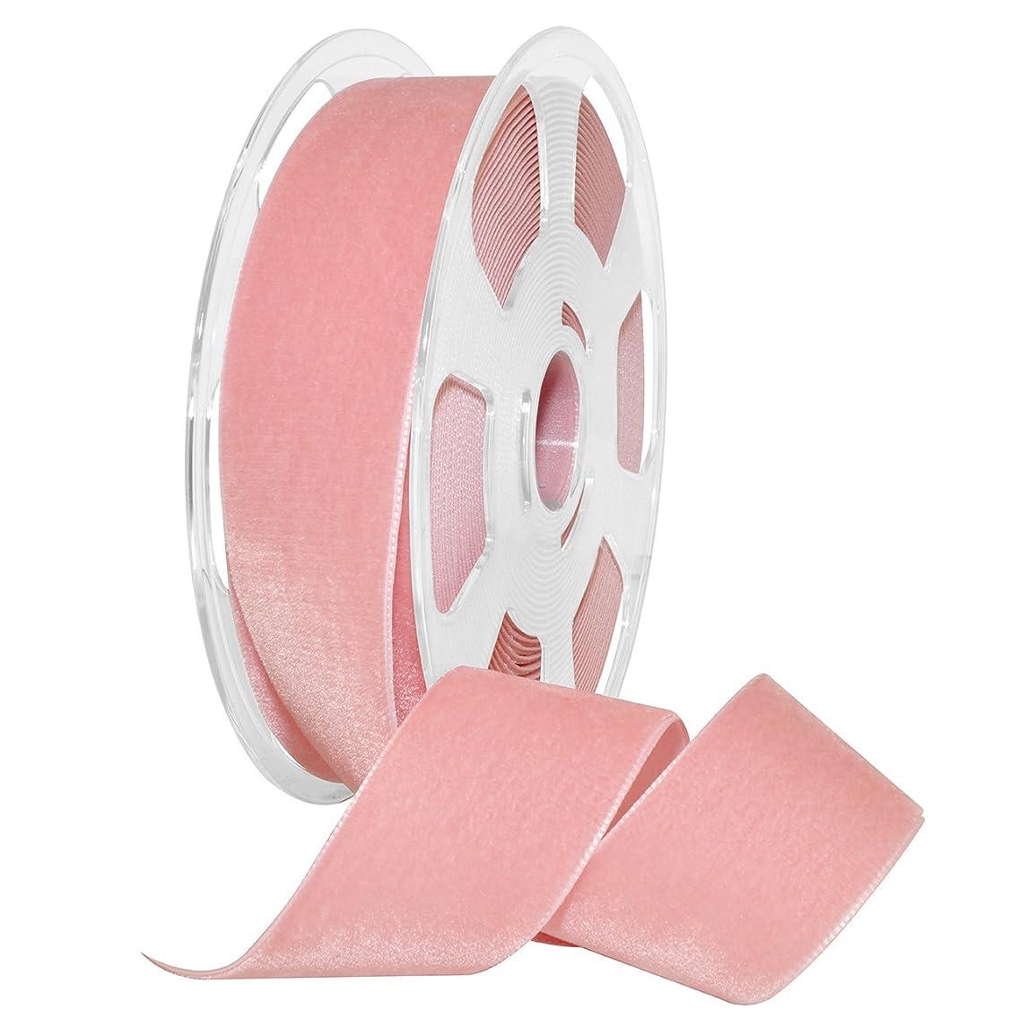 Morex Ribbon Ribbon, Nylon, 1 1/2 inches by 11 Yards, Dusty Rose, Item 01240/10-623 Nylvalour Velvet, 1 1/2