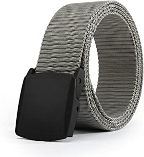 Men's Military Tactical Web Belt, Casual Nylon Webbing with No Metal Buckle