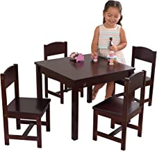 KidKraft 21453 Farmhouse Table & 4 Chair Set - Espresso, Espresso