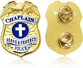 Chaplain Lapel Pin Serve and Protect Police Uniform Insignia