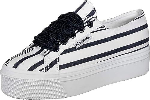 SUPERGA 2790 COT Multi Stripe W Hauszapatos Moda mujeres blanco Hauszapatos Bajas