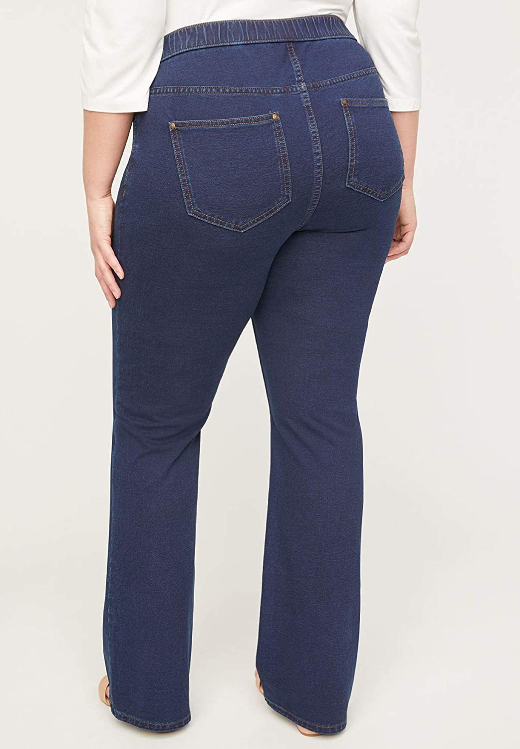 Catherines Women's Plus Size The Bootcut Knit Jean