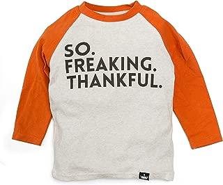 Littlest Prince Holiday Graphic Thanksgiving Raglan Bodysuits & Shirts