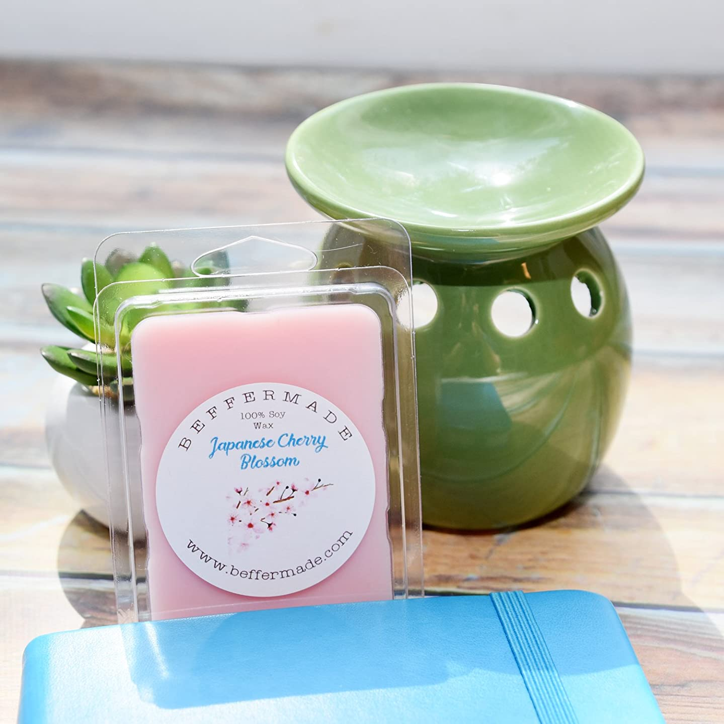 Japanese Cherry Blossom Scented soy wax melts - pack of 6 cubes