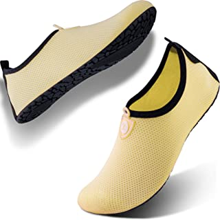 SIMARI Womens and Mens Water Shoes Quick-Dry Aqua Socks Barefoot for Outdoor Beach Swim