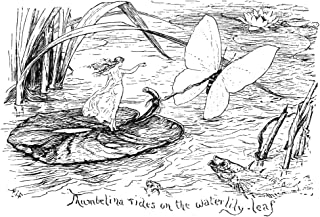 Andersen Thumbelina NThumbelina Tides On The Water Lily Leaf Drawing By Henry J Ford For The Fairy Tale By Hans Christian ...