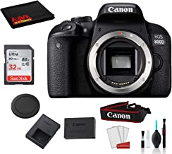 Canon EOS 800D (Rebel T7i) Body Only Kit with Accessory Bundle –SanDisk 32gb SD Card + Deluxe DSLR Cleaning Kit + More - International Model photo