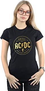 AC DC AC//DC HELLS BELLS 2 ROCK LONGSLEEVE//SHORTSLEEVE DAMEN//WOMEN WHITE T-SHIRT