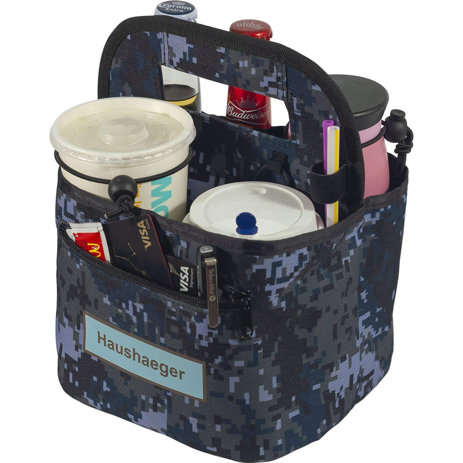 Portable Drink Carrier and Reusable Save money Handl Coffee with Spring new work Cup Holder