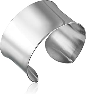 Women's Stainless Steel Polished Cuff Bracelet