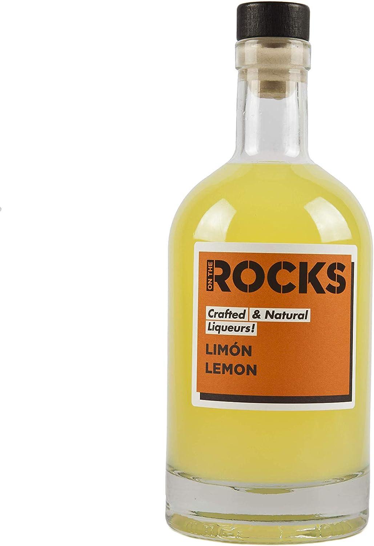 On The Rocks - Licor de Limon, 24% vol. alcohol, Botella 50 cl en boca azucarado y ácido
