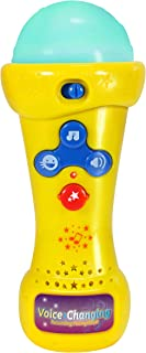 Little Pretender Kids Karaoke Microphone with Voice Changer, Record & Playback, Built-in Tracks and LED Lights