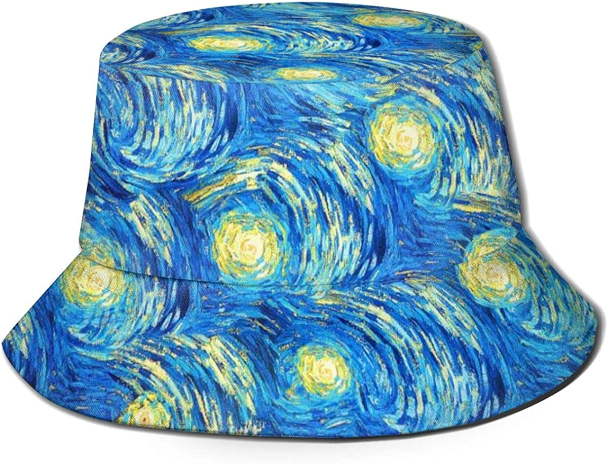 The Starry Night Van Gogh New Shipping Free Shipping Bucket Sun Men P Women Limited Special Price Hat for UV