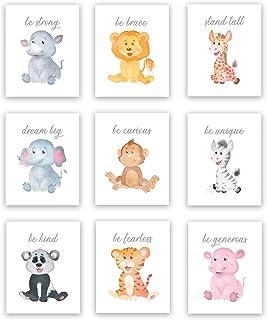 Safari Baby Animals | Nursery Décor | Baby Room Décor | Playroom Wall Art Decor Prints | Boys & Girls Room | Kids Bedroom ...
