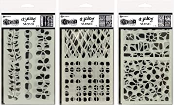 Dyan Reaveley's Dylusions Dyalog Stencils - Border It, Doodle It and Stencil It - 3 Dyalog Journal Planner Items
