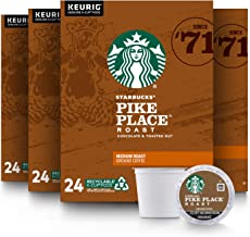 Starbucks Medium Roast K-Cup Coffee Pods — Pike Place Roast for Keurig Brewers — 4 boxes (96 pods total)