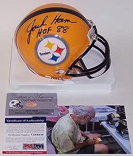 Jack Ham Autographed Hand Signed Steelers Mini Helmet - PSA/DNA