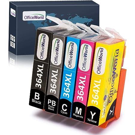 Officeworld Ersatz Für Hp 364 364xl Druckerpatronen Inkl Foto Schwarz Hohe Kapazität Kompatibel Mit Hp Photosmart 7510 7520 C5380 C6380 C309a C310a C410 C410b Bürobedarf Schreibwaren