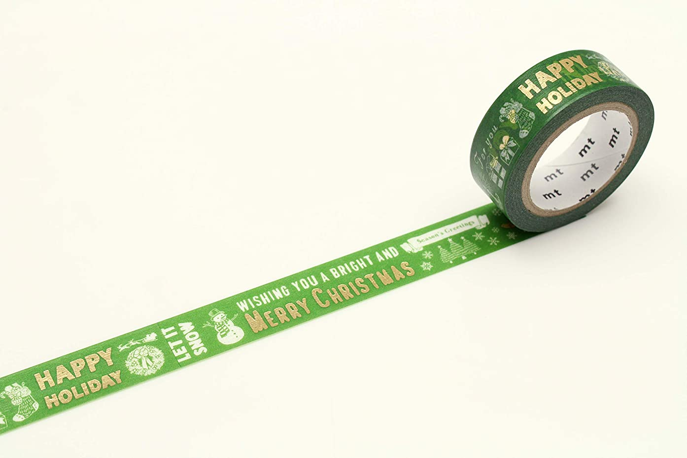 mt Seasonal Washi Paper Masking Tape: 3/5 in. x 23 ft. (Winter Words)