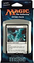 Magic the Gathering: MTG Shadows over Innistrad: Intro Pack / Theme Deck: Ghostly Tide (includes 2 Booster Packs & Alternate Art Premium Rare Promo) White / Blue - Drogskol Cavalry