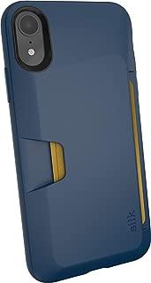 Smartish iPhone XR Wallet Case - Wallet Slayer Vol. 1 [Slim + Protective] Credit Card Holder for Apple iPhone 10R (Silk) - Blues on the Green - SLK-VTXM-TEAL