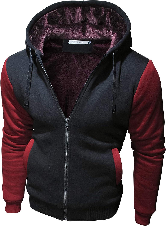 5% OFF Mens Casual Full-Zip Hoodie Superior Sweatshirt Hooded Fleece Long-Sleeve