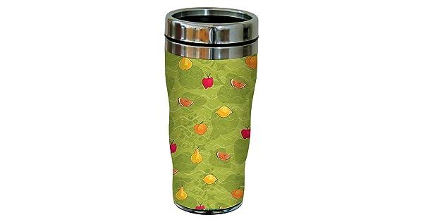 16-Ounce Stainless Steel Tree-Free Greetings 77282 Fruit Salad by Debbie Mumm Sip N Go Travel Tumbler
