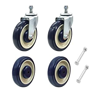 ACS Shopping Cart Wheel Replacement Grocery Kit (4-pack) with Hardware   5