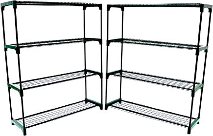 Oypla Flower Staging Display Greenhouse Racking Shelving Double Pack