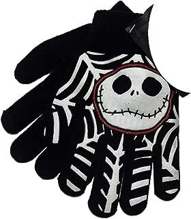 Nightmare Before Christmas Jack Skellington Black Knit Boys Winter Gloves