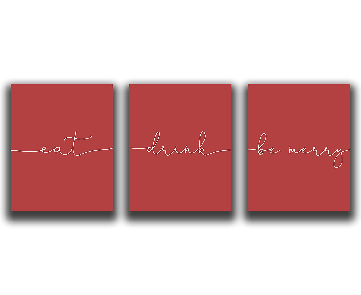 Red Kitchen Wall Decor - Set UNFRAMED Limited Special outlet Price 3-8x10
