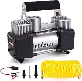 New 12V Double-Cylinder Car inflatable Pump Air Compressor Tire Inflators Tool