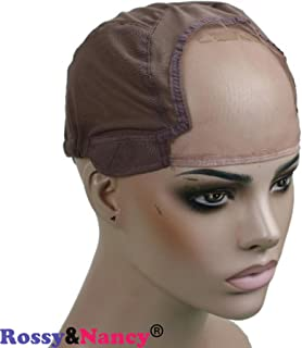 Rossy&Nancy Best Gluess Silk Swiss Lace Net Ear to ear stretch wig caps with adjustable straps for making Wigs
