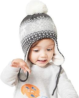 Spasuely Gorro de invierno para ni/ñas forro suave arco cable de punto para beb/é
